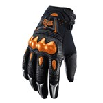 (CLEARANCE SALE) - FOX 2016 BOMBER GLOVES - BLACK/ORANGE