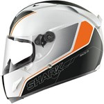 (CLEARANCE SALE) - Shark Race-R Pro Stinger Helmet - White/Orange