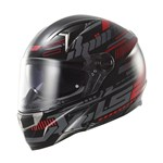 (CLEARANCE) LS2 FF396 DART FT2 TRON - Black/red