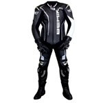 BERIK FORCE RACE MENS LEATHER SUIT - Black/White