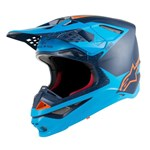 Alpinestars Supertech S-M10 Carbon Meta Helmet - Aqua Black / Fluro Orange