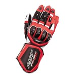 RST Tractech EVO-R Leather Gloves - Black/Flo Red
