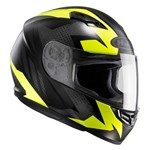 HJC CS-15 Treague MC-4HSF Helmet (Yellow/Black)