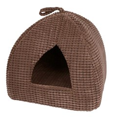 Plush Igloo for kittens, cats or small dogs in Chocolate or Beige