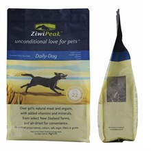 ZiwiPeak Daily-Dog Cuisine - Natural Air-Dried Meat  - 1kg resealable pouch.