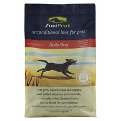 ZiwiPeak Daily Dog air-dried Venison, available in 1kg and 2.5kg pouches