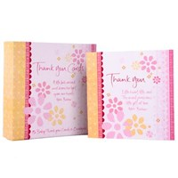 Boxed Thank You Cards - Baby Pink