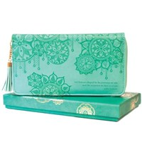 Travel Clutch: Tahitian Turquoise