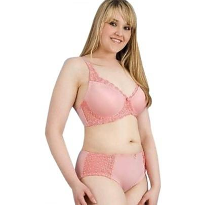 plus size coral shaped underwire bra and panty set - swimwear plus