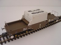 Bachmann OO/Scale BL38347 FNA Nuclear Flask Wagon with Sloping Floor