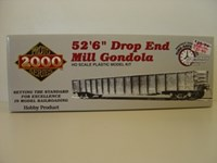 "LLPR92031975 Proto 2000 Series HO/Scale Conrail 52'6"" Drop End Mill Gondola Kit with duct work load"