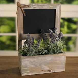 Window Sill Plant Box with Blackboard