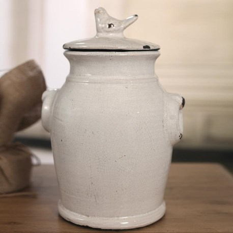 Classic White Bird Canisters - Two Styles