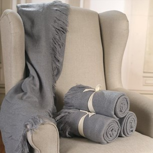 Throw Rug Soft Touch Grey