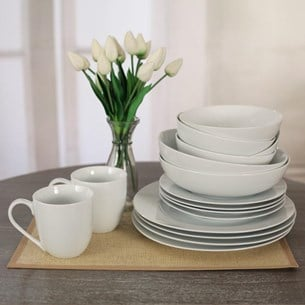 White Porcelain Dinnerware (One Setting)