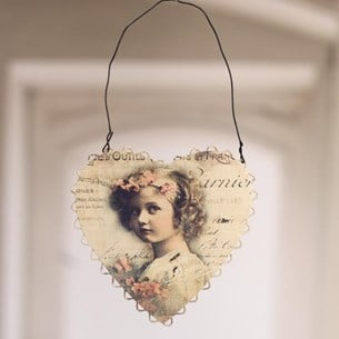 Portrait Tin Heart Hanger