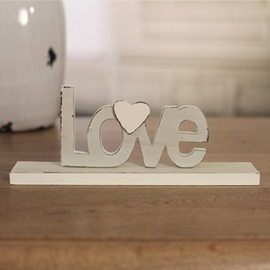 Antique Cream Decor Words - Three to Choose From