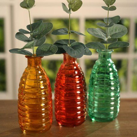 Coloured Beehive Shaped Bottles