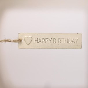 Metal HAPPY BIRTHDAY Tag