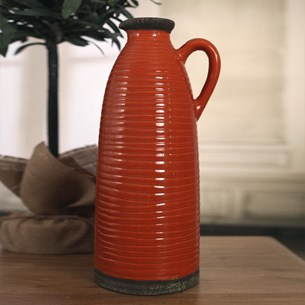 Tall Decorative Jug - Orange
