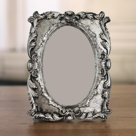 Silver Oval Photo Frame 4x6