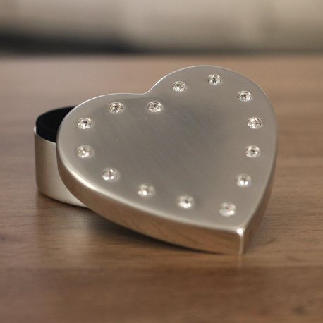 Heart Diamante Jewellery Box