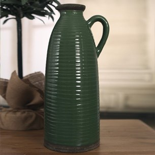Tall Decorative Jug - Green
