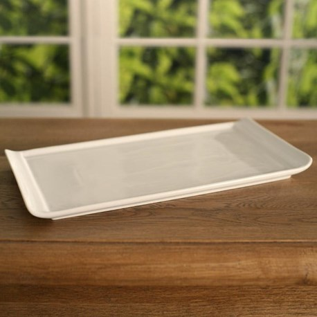 White Ceramic Serving Tray (wide)