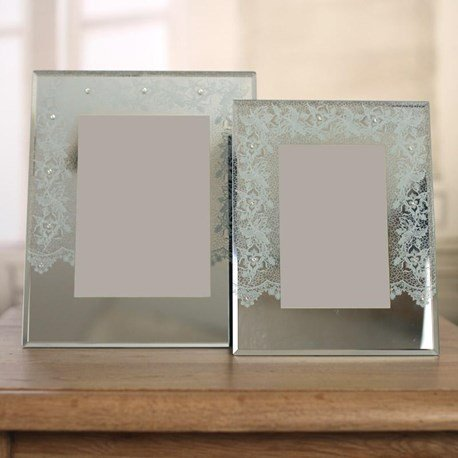 'White Lace' Photo Frames - Two Sizes
