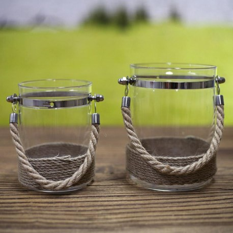 Rope Candle Holder - Two Sizes
