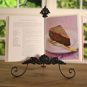 Fleur de Lys Recipe Book Stand - cream or black