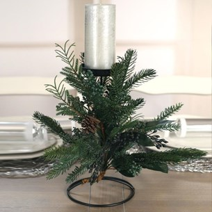 Table Centre One Candle Pine & Cedar