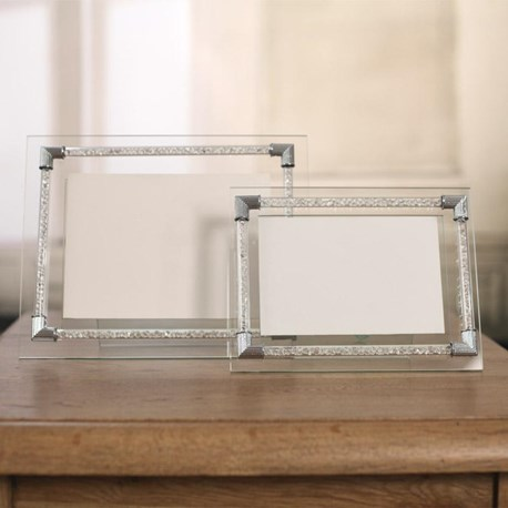 Crystal Cylinder Photo Frames - Two Sizes