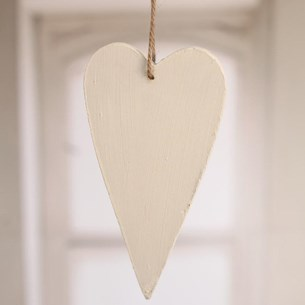 Wooden Heart Small - red or white