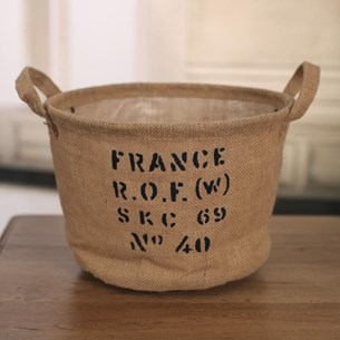 Hessian Storage Tub