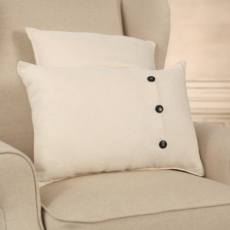 100% Linen White Cushion - Square or Lumbar