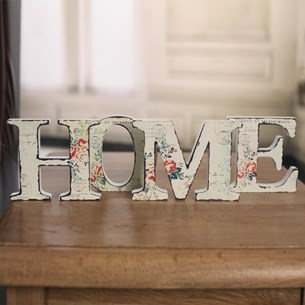 Floral HOME Decor Word - Large