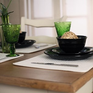 Country Black Dinnerware (One Setting)