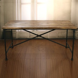 Rustic Hardwood Dining Table - 'Industry Collection'