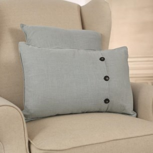 100% Linen Blue Cushion - Square or Lumbar