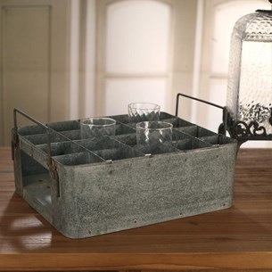 'Industry' Rustic Metal Serving Drinks Tray