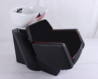 """Jaguar"" basin in all black.  Comes with adjustable basin and free tap fittings."