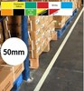 Permastripe Indoor Aisle Marking Tape 50mm - Simply Peel Back The Liner and Press Down - HE-0002-50