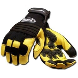 Heavy Duty Leather Mechanics Rigger Gloves - Conforms to EN388 (4132) - Pair - AN-97-977