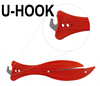 F600 FISH Red Safety Knife with Hook Blade - U-Hook - Ideal for Light Warehouse Use - [KC-F600C]