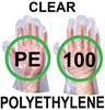 Supertouch Polyethylene General Use Disposable Gloves - Pack of 50 Pairs - Clear - [ST-13603]
