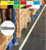 Permastripe Indoor Aisle Marking Tape 100mm - Simply Peel Back The Liner and Press Down - HE-0002-100