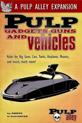Pulp Gadgets, Guns and Vehicles on its way and a blogger post on figure size.