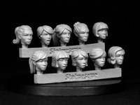 SMA302 Heroic Scale Female Heads 2