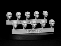 SMA105 Fine Scale Female Heads - Bald
